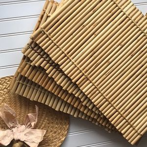 Set of 6 Bamboo wood rod placemats